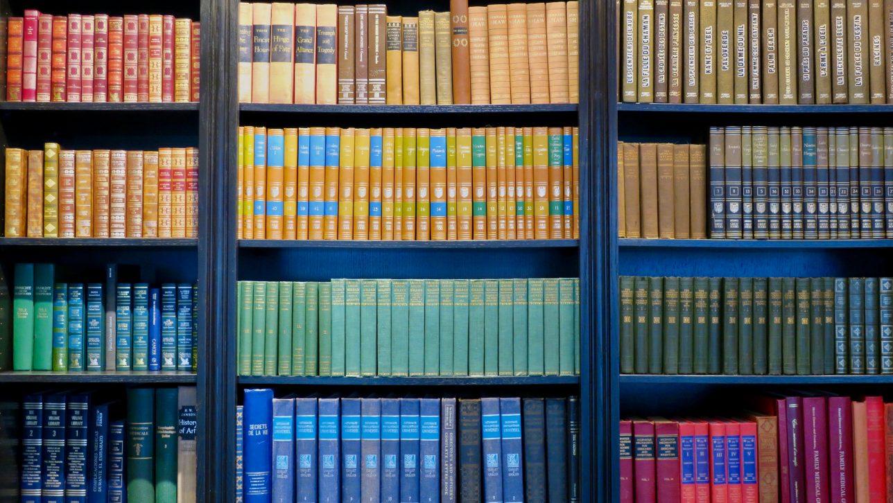 books; photo by sara cohen via unsplash