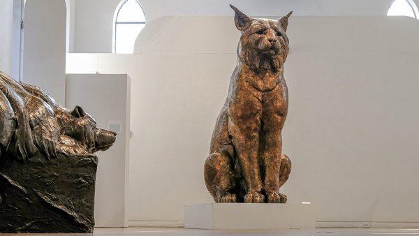 Bronzy Lynx statue